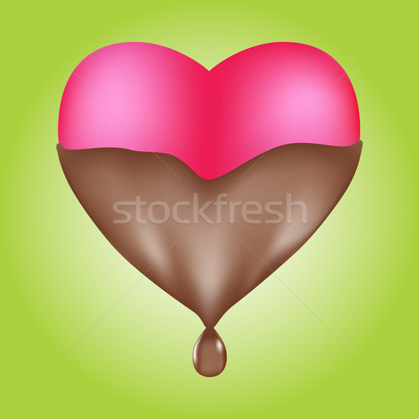 Chocolate Dipped Heart 3D Stock photo © cteconsulting