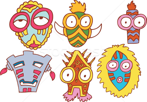 Tribal Masks Stock photo © cteconsulting