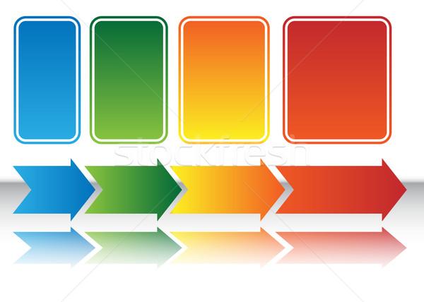 Heat Map Arrow Chart Stock photo © cteconsulting