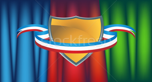 Gold shield with Drapery Stock photo © cteconsulting