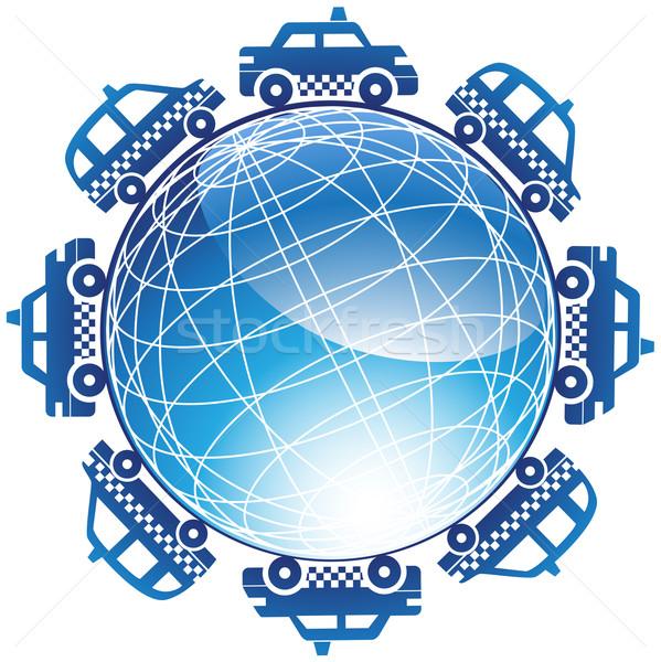 Taxi Cab Globe Icon Stock photo © cteconsulting