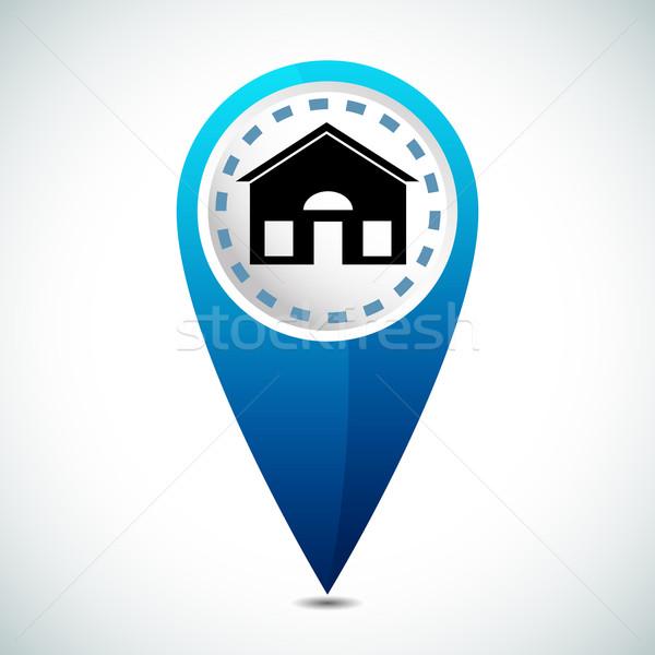 Casa ubicación icono imagen 3D casa Foto stock © cteconsulting
