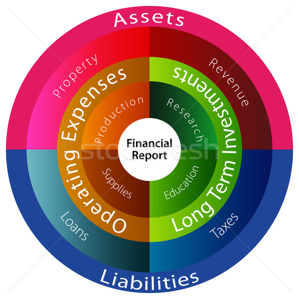 Financial Report Chart Stock photo © cteconsulting