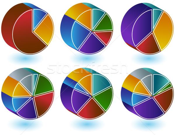 Pie Chart Set Stock photo © cteconsulting