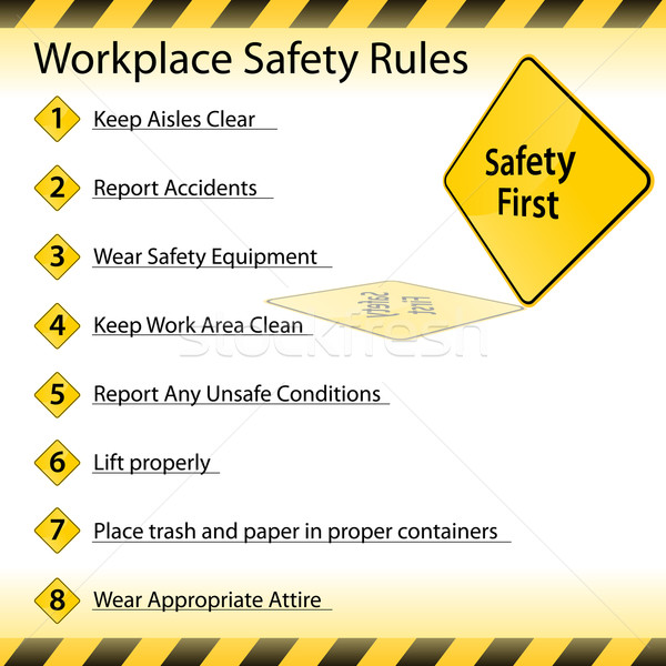 Workplace Safety Rules Stock photo © cteconsulting