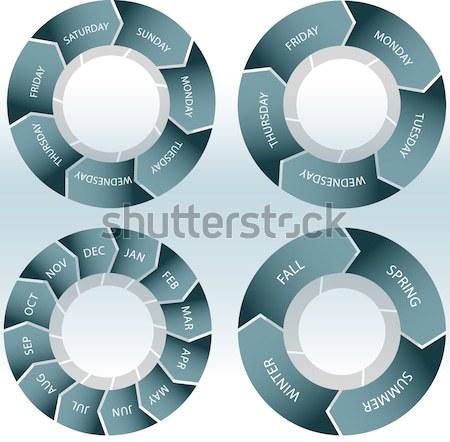 Rueda establecer imagen negocios diseno tabla Foto stock © cteconsulting