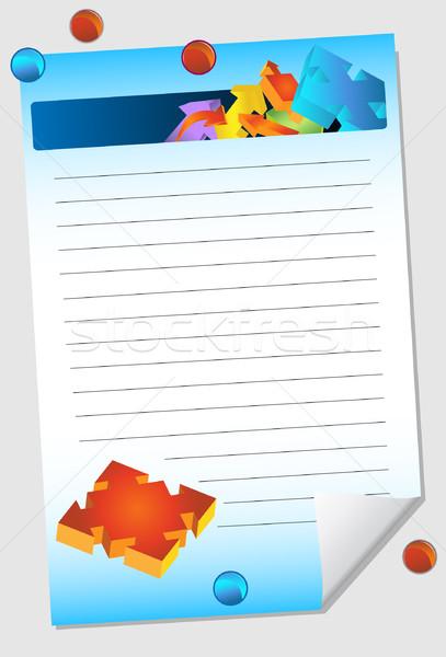Direction Arrow Notepad Stock photo © cteconsulting