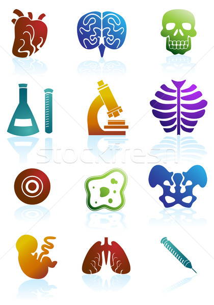 Biology Icon Set Stock photo © cteconsulting