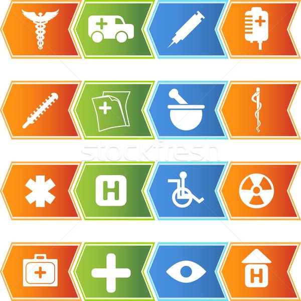 Healthcare Icons Stock photo © cteconsulting
