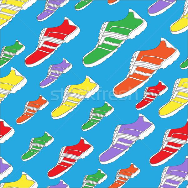 Shoe Pattern / Print Stock photo © cteconsulting
