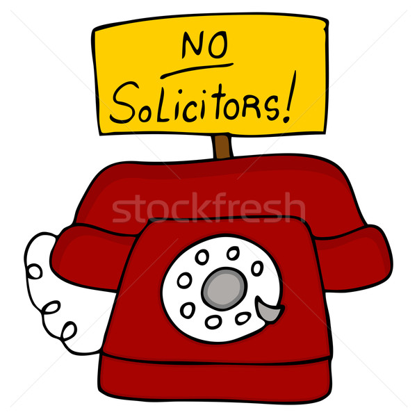 No Solicitors Telephone Stock photo © cteconsulting