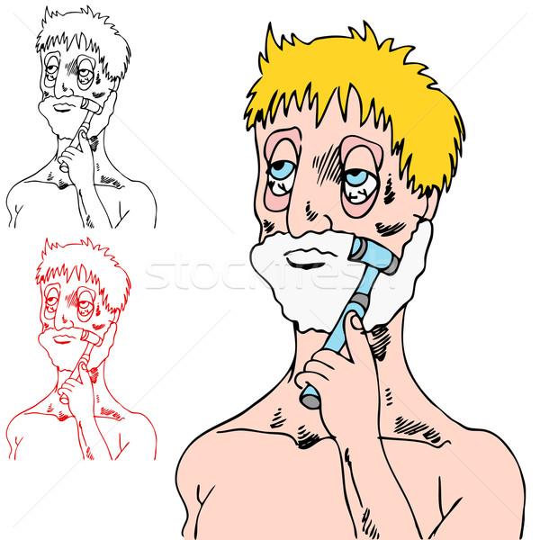 Tired Man Shaving Stock photo © cteconsulting