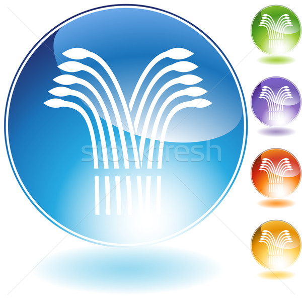Wheat Crystal Icon Stock photo © cteconsulting