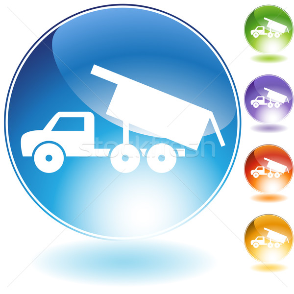 Dump Truck Crystal Icon Stock photo © cteconsulting