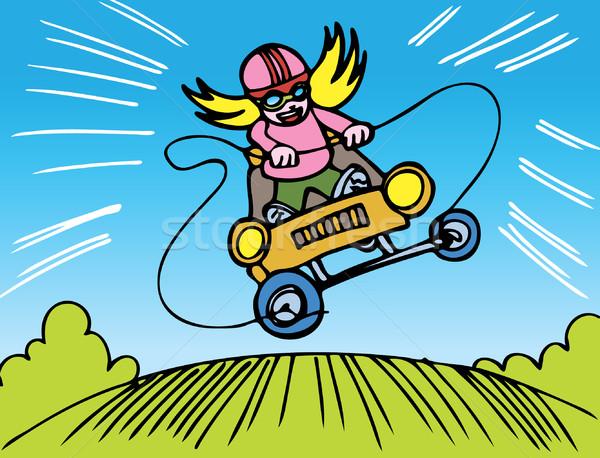 Girl Go Kart Race Stock photo © cteconsulting