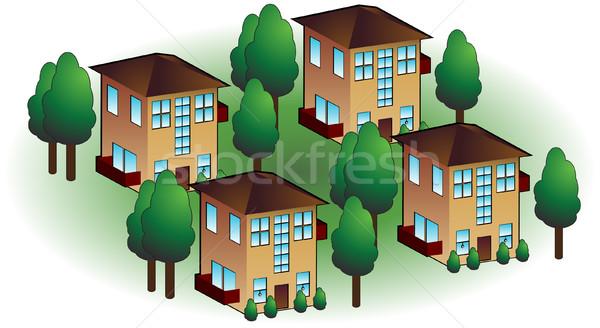Isolé blanche maison arbre Photo stock © cteconsulting