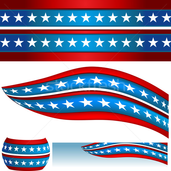 Patriotic USA Flag Banners Stock photo © cteconsulting