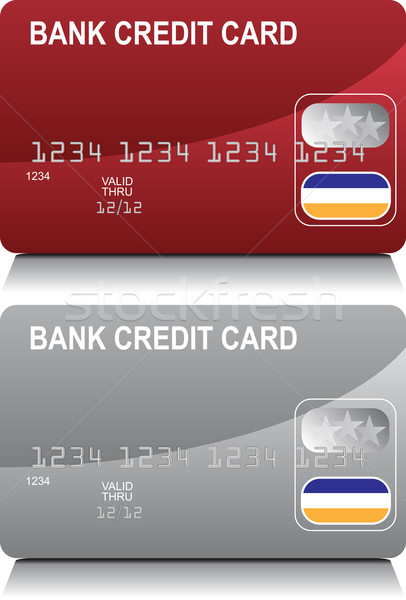 Credit Card Red Silver Stock photo © cteconsulting