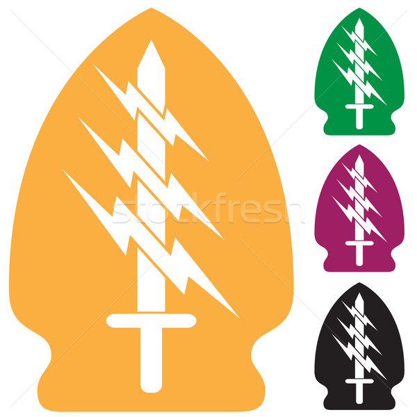 Set of Army Special Forces Symbol Stock photo © cteconsulting