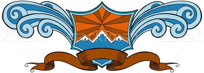 Snow Mountain Crest Stock photo © cteconsulting
