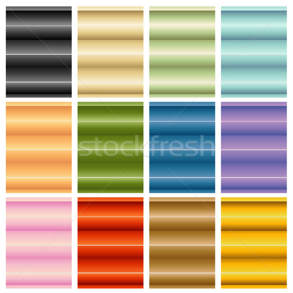 Window Blinds Shades Set Stock photo © cteconsulting