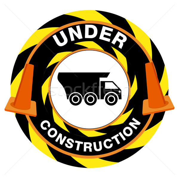 Under Construction Warning Stock photo © cteconsulting