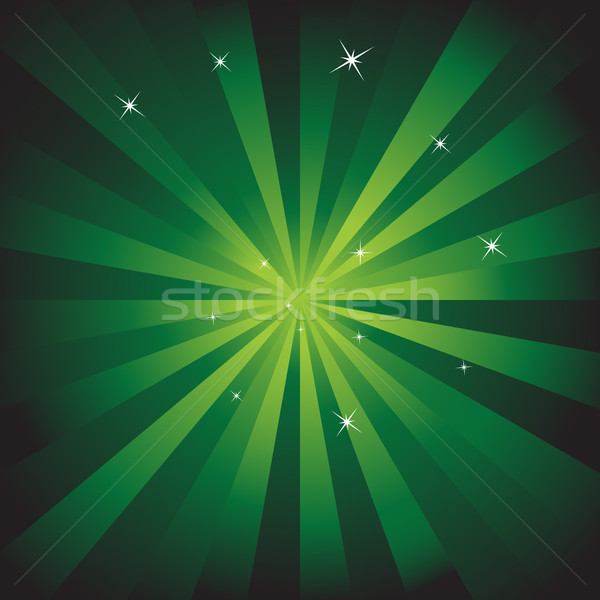 Stock photo: Green Starburst