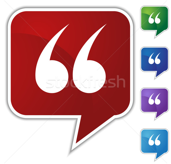 Speech Bubble Set - Quotes Stock photo © cteconsulting
