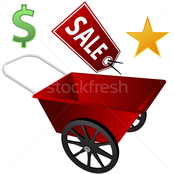 Retail Wheel Barrow Stock photo © cteconsulting