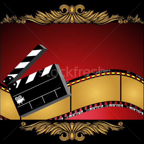Stock photo: Movie Background: Film Slate Reel
