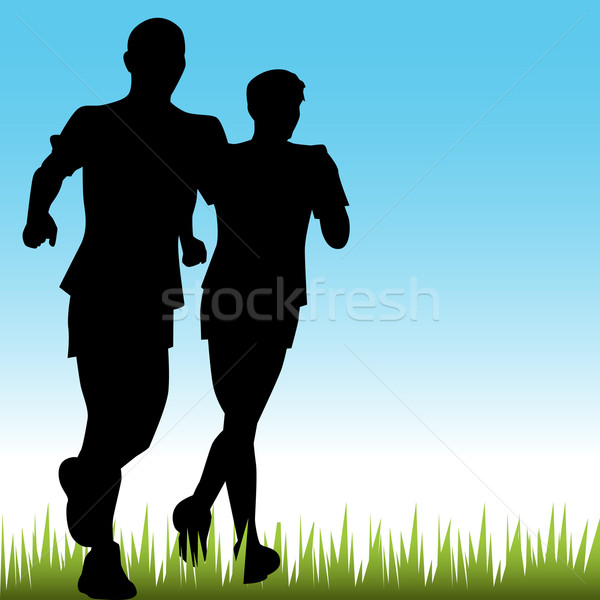 Father Son Runners Stock photo © cteconsulting