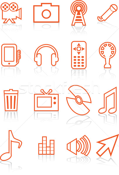 Film Industry Icons Stock photo © cteconsulting