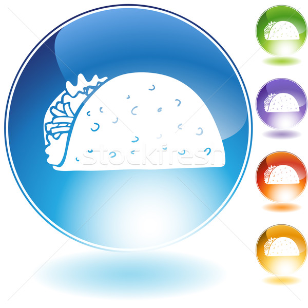 タコス 結晶 アイコン 孤立した 白 食品 ストックフォト © cteconsulting