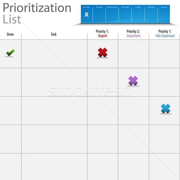 Prioritization List Chart Stock photo © cteconsulting