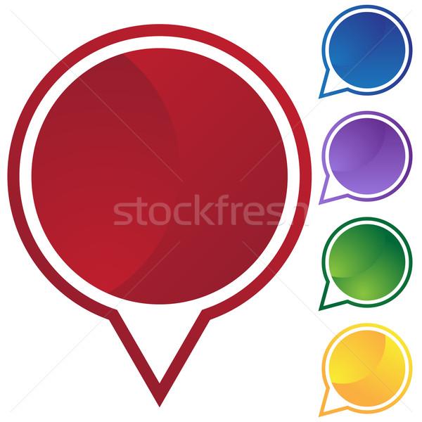Speech Circle Set - Blank Stock photo © cteconsulting