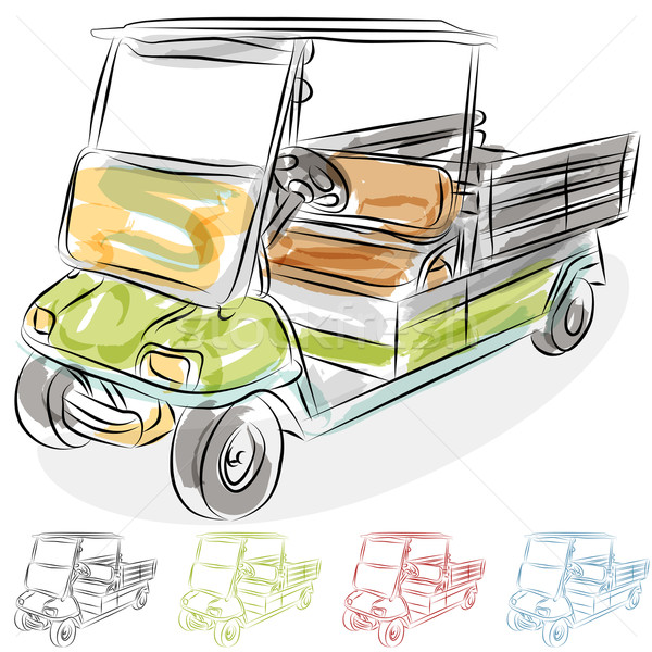 Watercolor Golf Cart Stock photo © cteconsulting