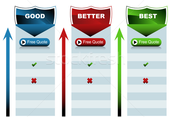 Shield Good Better Best Chart Stock photo © cteconsulting