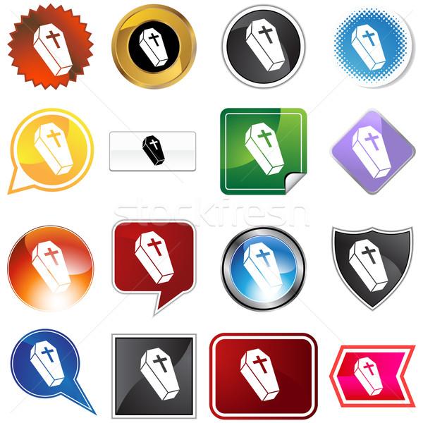 Koporsó ikon kép kereszt halál béke Stock fotó © cteconsulting