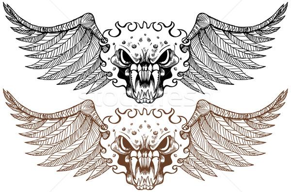 набор глаза мертвых крыльями страхом человека Сток-фото © cteconsulting