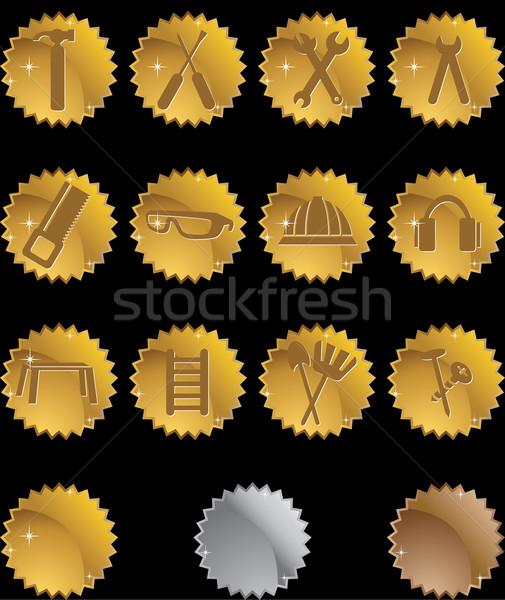 аппаратных иконки изображение набор лошади обезьяны Сток-фото © cteconsulting