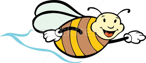 Bee изображение дизайна искусства белый меда Сток-фото © cteconsulting