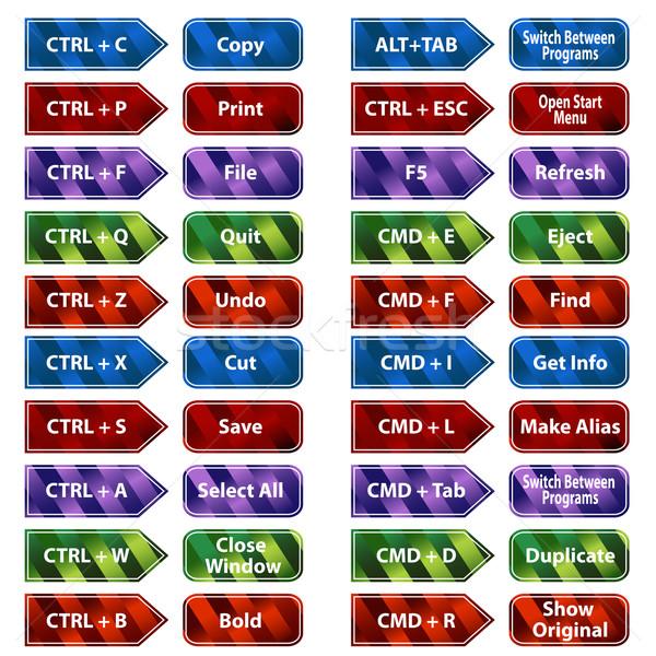 Keyboard Shortcut Button Set Stock photo © cteconsulting