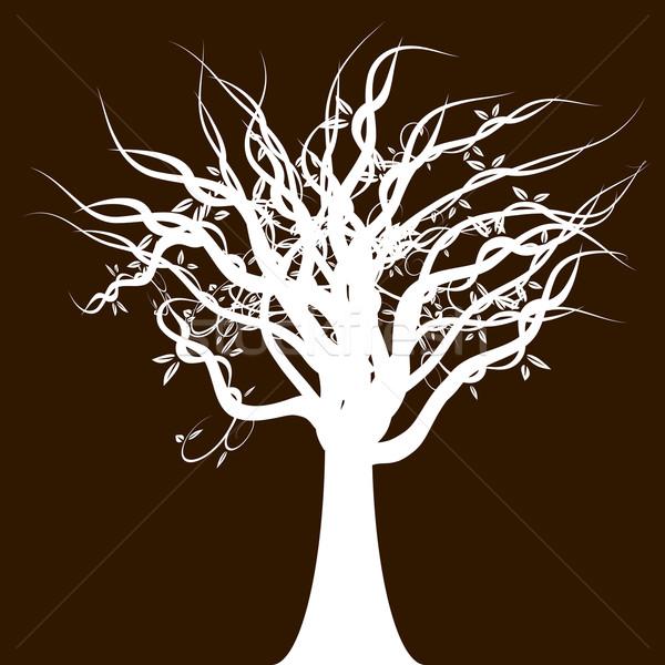 Boom natuur ontwerp blad silhouet plant vector illustratie john takai - Boom ontwerp ...