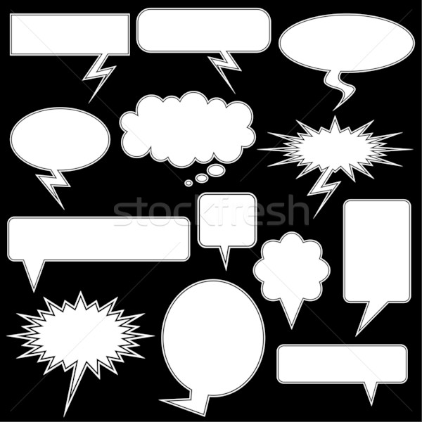Chat Bubble Icon Set Stock photo © cteconsulting