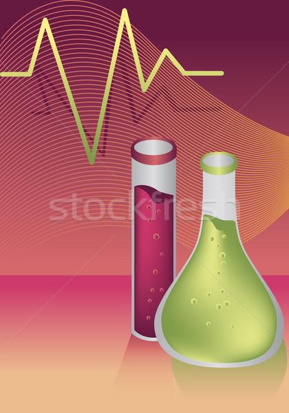 Flask Set Stock photo © cteconsulting