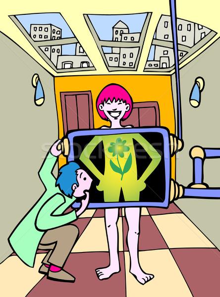 Green energy girl Stock photo © cteconsulting