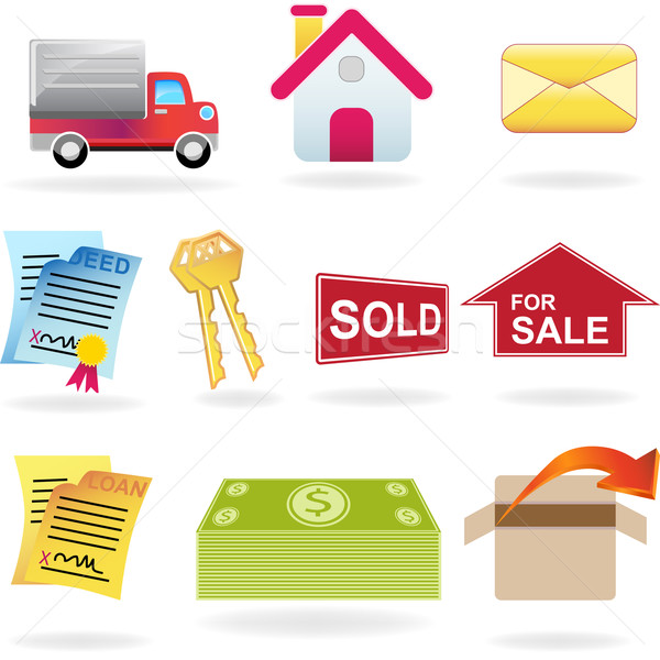 Real Estate Icon Set Stock photo © cteconsulting