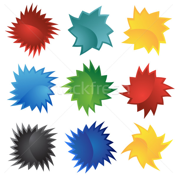 Mühürlemek ayarlamak farklı renkler sanat Stok fotoğraf © cteconsulting