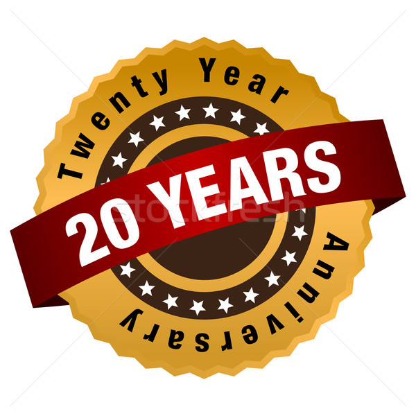 20 Year Anniversary Label Stock photo © cteconsulting