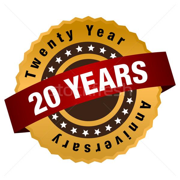 20 Jahr Jahrestag Label Bild zwanzig Stock foto © cteconsulting